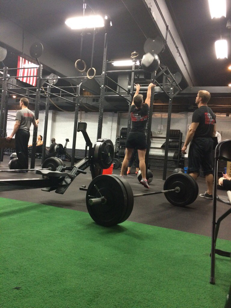 """Thought about going scaled. But then I thought, what if I make it to the row?! RX it is!"" #InTheOpen @CrossFitGames https://t.co/MiDxbNVBDm"