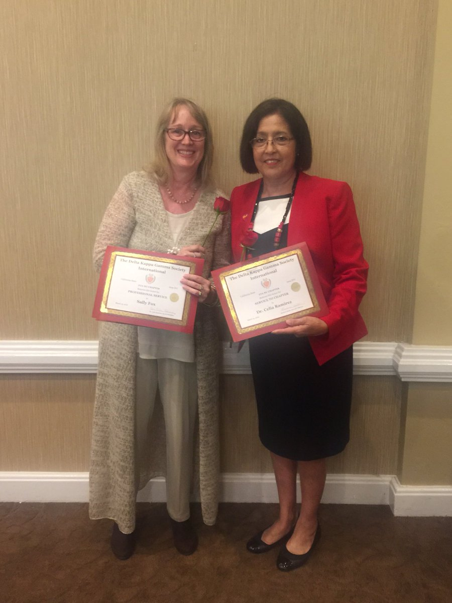 Chapter Awards to @sallyfox13 for Professional Service and Dr. Celia Ramirez for Service to Chapter