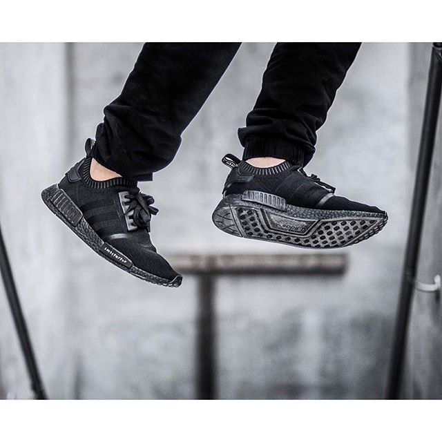 c095ae52c7c32 Adidas NMD Triple Black On Feet adidasnmdwomensuk.co.uk