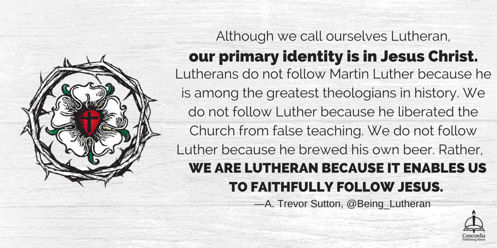 As Lutherans, our primary identity is in Jesus Christ. @Being_Lutheran https://t.co/HZOzp8Ey4c