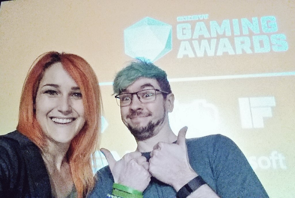 Rehearsing for the #SXSW Gaming Awards! Tune in at 8pm CT (in 3 hours!!) https://t.co/BYHujDuUtC https://t.co/Q0N0fVtnUW