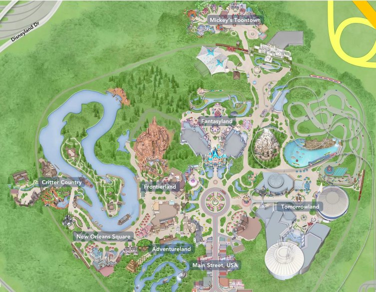 Disneyland Usa Map.Disneyland Attraction Map Clickable Quiz By Annie9955