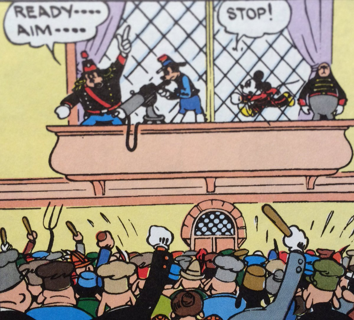 Whatever happened to the Mickey Mouse who jumped through a window to stop police from machine-gunning protesters https://t.co/Tj8su4iAe1