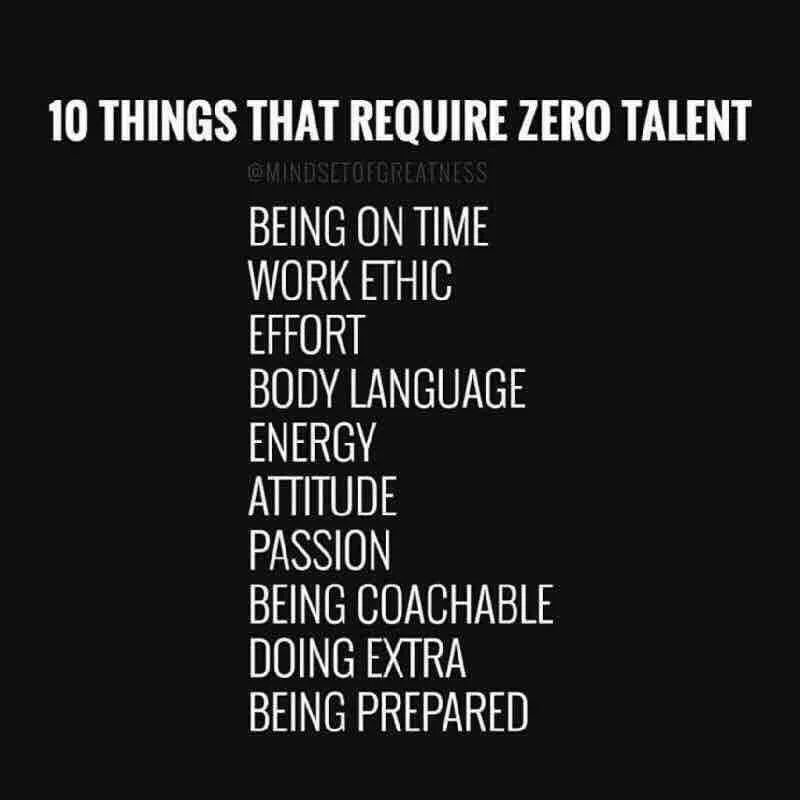 Even with zero talent, you can still achieve a lot https://t.co/jvRRMsmmti