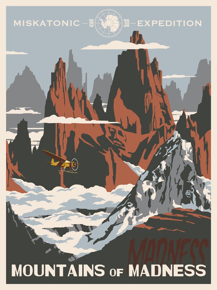 Fantastic Lovecraftian travel posters!   https://t.co/2IFxpi3axM https://t.co/7pCFCcd4ZY