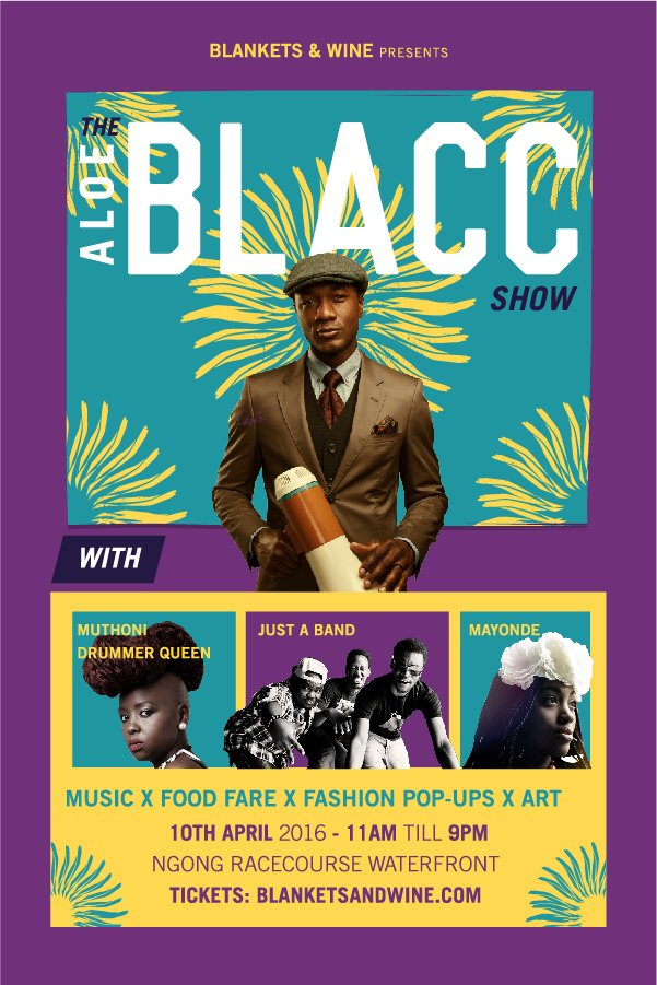 APRIL 10TH | B&W Presents @aloeblacc w/ @muthoniDQ @justaband @amayonde + food fare x fashion pop-ups and art. https://t.co/I1pmij6JUZ