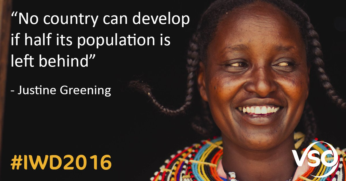 """""""No country can develop if half its population is left behind"""" - Justine Greening #InternationalWomensDay https://t.co/iWwSygSTSo"""
