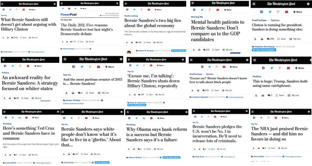 The @WashingtonPost put out 16 negative stories on #BernieSanders over a 16-hour period. https://t.co/kGavHltfHQ https://t.co/t2CXVmDn25