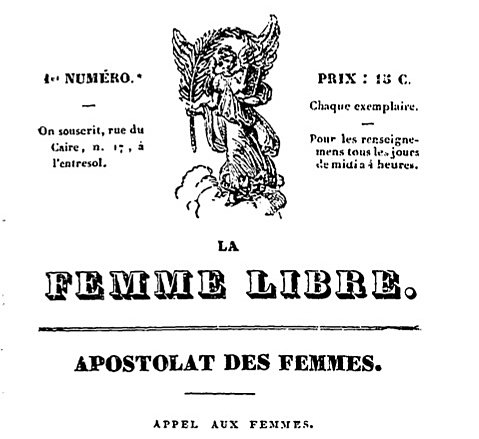 6)Une génération de femmes se mobilise alors et crée le 1er journal entièrement écrit par les femmes (1832) https://t.co/XgnnbNafiU