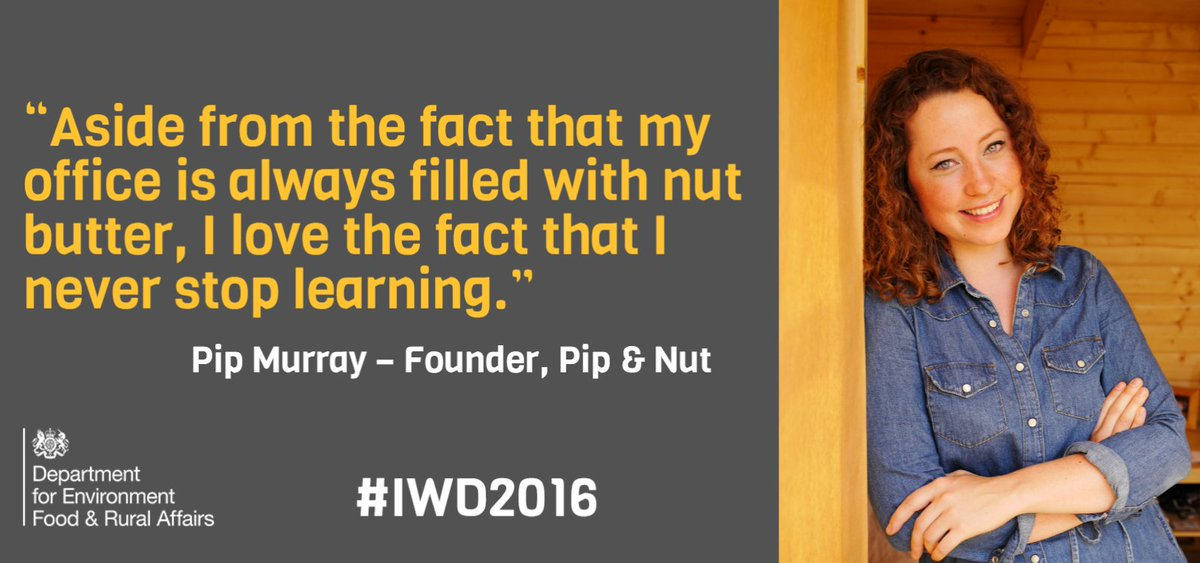 Celebrate our #foodpioneers on #IWD2016 with Pip Murray, founder of @pipandnut https://t.co/D2eEZC6ICi