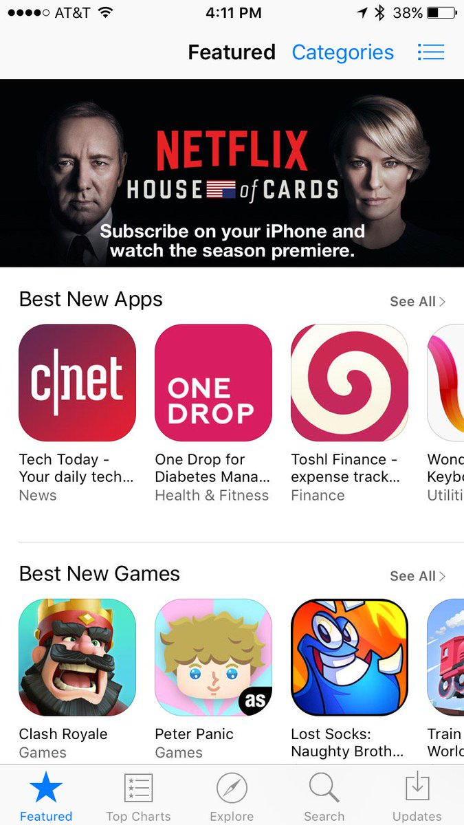 it's pretty amazing to see your work featured on the main page of the @AppStore! go @onedroptoday! https://t.co/JXqx9Mz5sR
