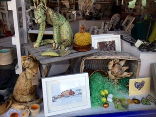 Our lovely new Easter window display #artgallery #shoplocalwales #IWD2016 @VicciMurray @ChristianPRyan