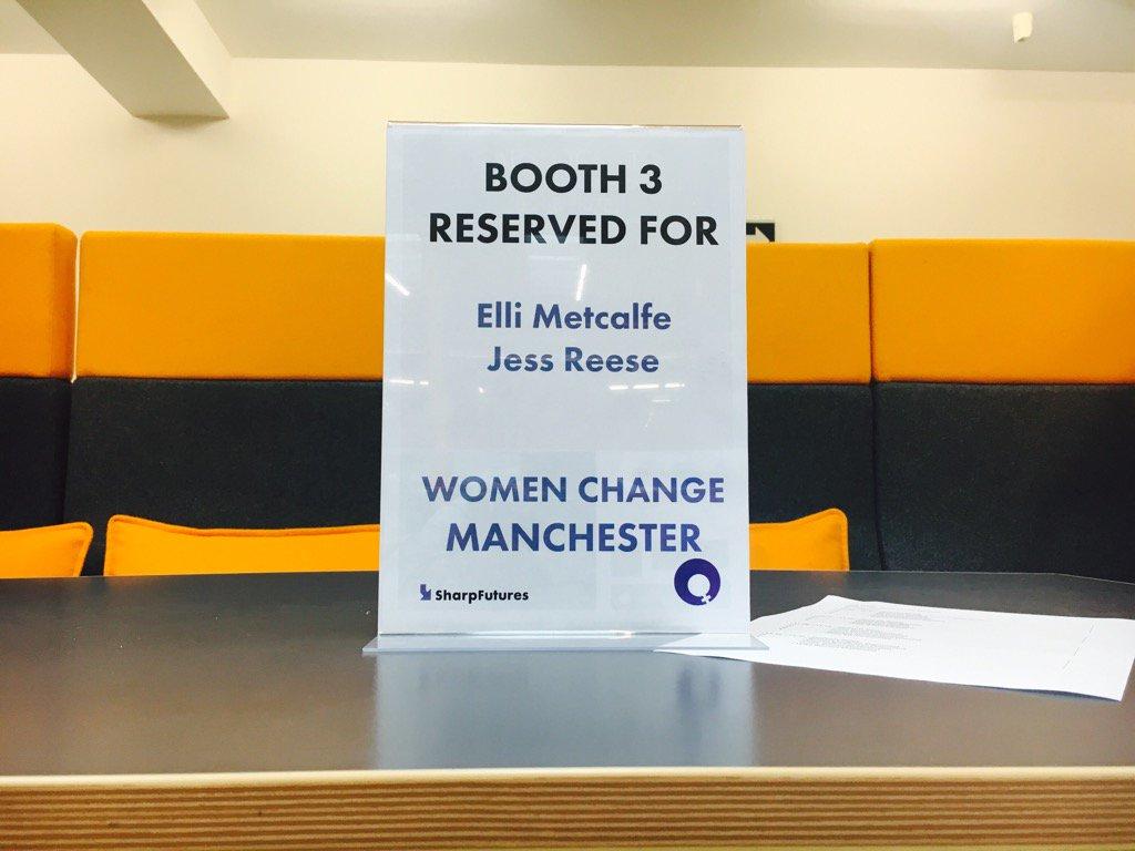 Mentor booths set up for #womenchangeMCR @sharpproject https://t.co/NtQisOGqsI