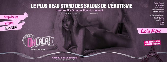 On se retrouve à Paris ce weekend #Paris #lolareve #ohlala #erotisme https://t.co/YTgVqnc4NW