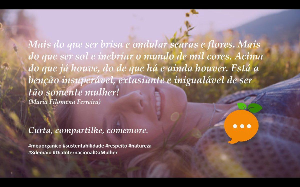 Curta, comente, compartilhe #meuorganico   #sustentabilidade #mbafgv #8demarço #DiaInternacionalDaMulher #respeito https://t.co/AdhjDfrwQ9