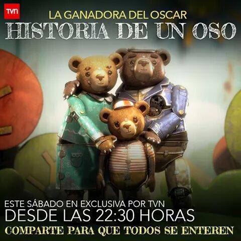 ATENCIÓN BARRA POP: a pedido del público #HistoriaDeUnOso será dada EL SÁBADO 22:30 hrs. por #TVN dile a tu familia! https://t.co/qg8k4Sq1zo