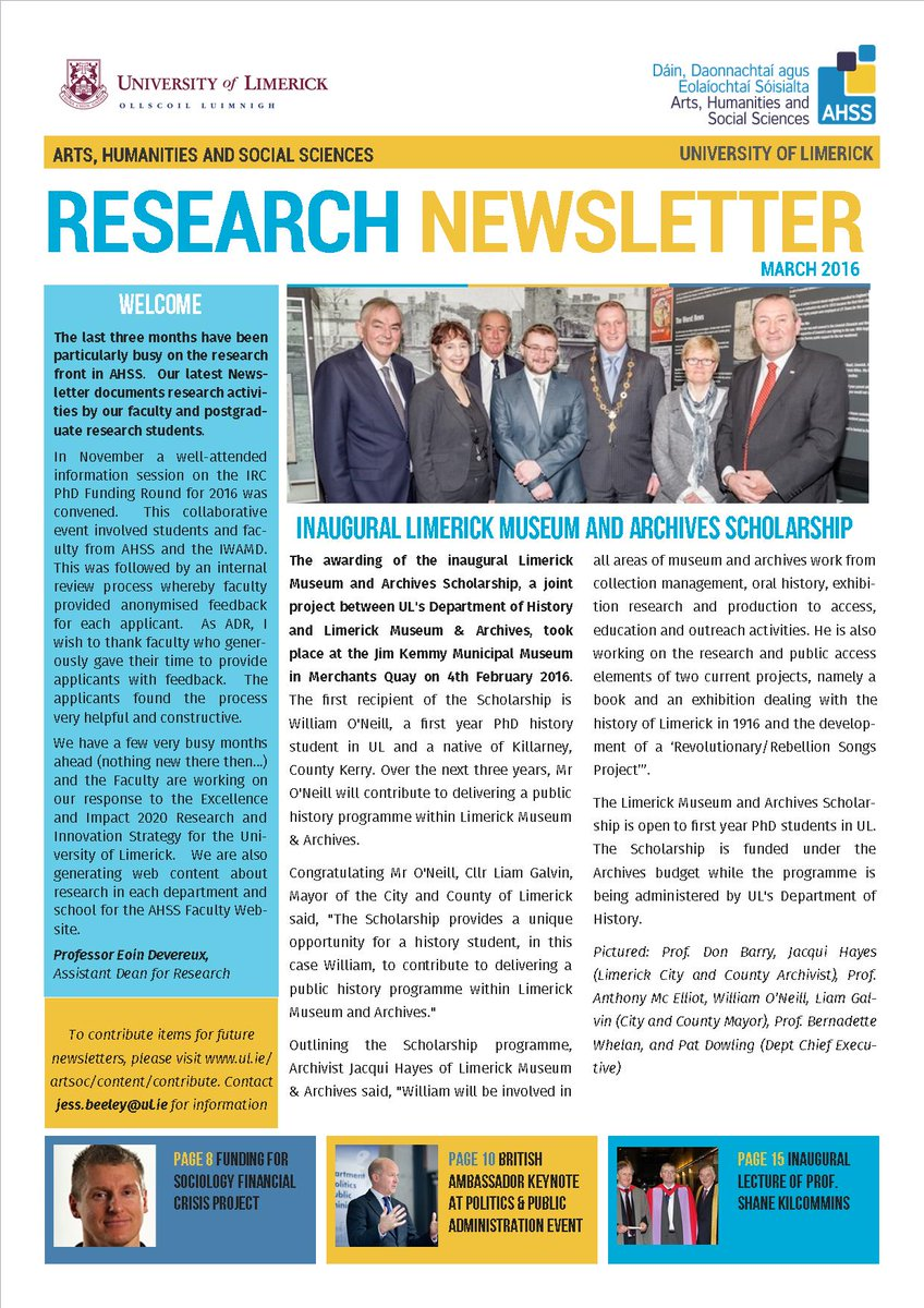 Our latest research newsletter can be found here  https:// issuu.com/ahss/docs/news letter_march_2016 &nbsp; …  #researchatul @UL<br>http://pic.twitter.com/BA5rdFOXFg