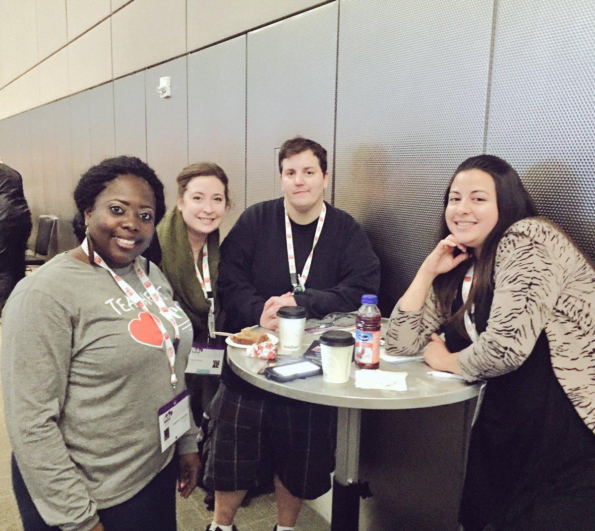Thanks #TesInnovates yummy breakfast. Meeting new friends. #SXSWedu @AISD_CTE @Darkroom920 @Kharima4 @MlleGrant https://t.co/IQux7f6GF6