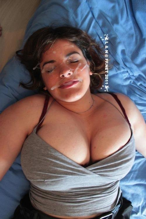 facial cum bbw gets