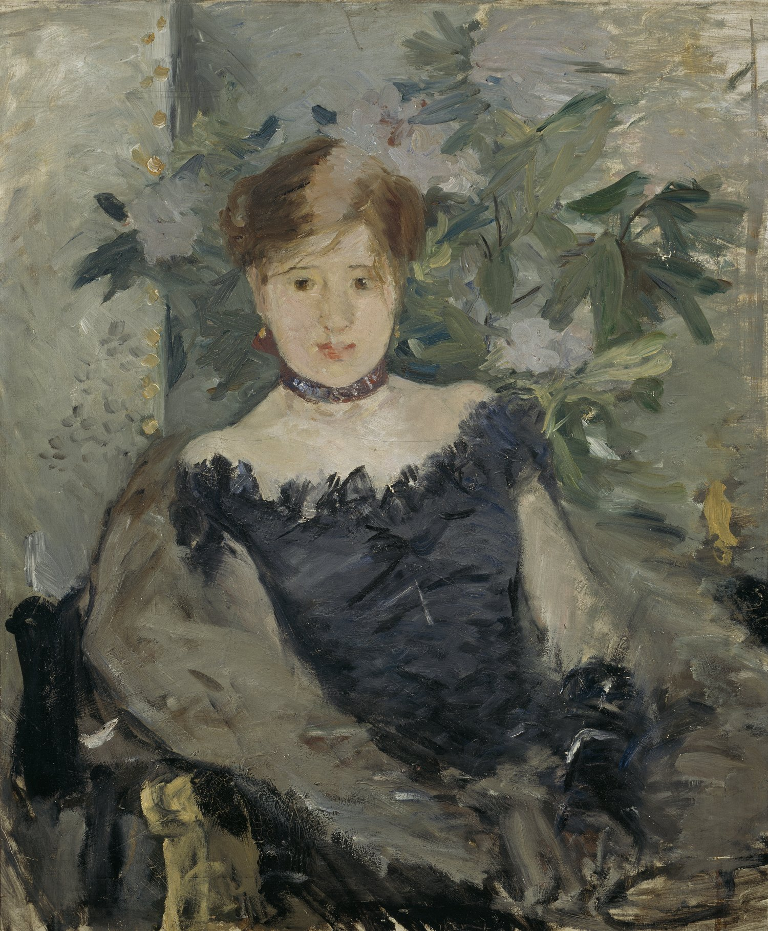 """National Gallery of Ireland on Twitter: """"Berthe Morisot's 1878 painting 'Le Corsage  Noir', now hanging in the Millennium Wing #InternationalWomensDay  https://t.co/fGn1QZm37J"""""""