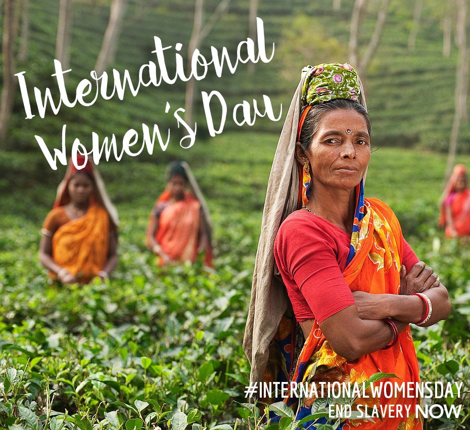 This #internationalwomensday we will continue to fight for the estimated 11.5 million women currently enslaved. https://t.co/og32YHWSNf