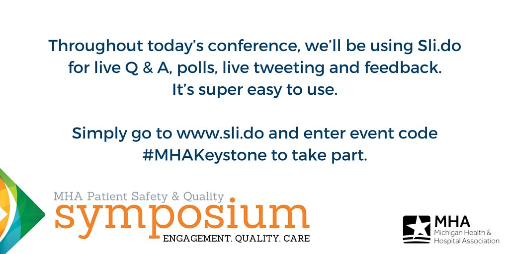 Throughout our 2016 symposium we will be using Sli.do. Enter event code #MHAKeystone at https://t.co/8G1FJJvjyw https://t.co/e5WM3tvtbX