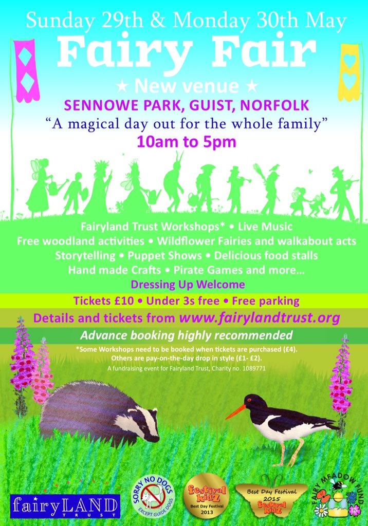 New Fairy Fair poster, please do share far and wide