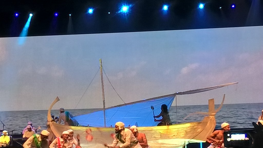 Making the waves #Maldives #ITBBerlin Partner Country 2016 opening ceremony brings #CityCube to life https://t.co/IyWvVrNFiA