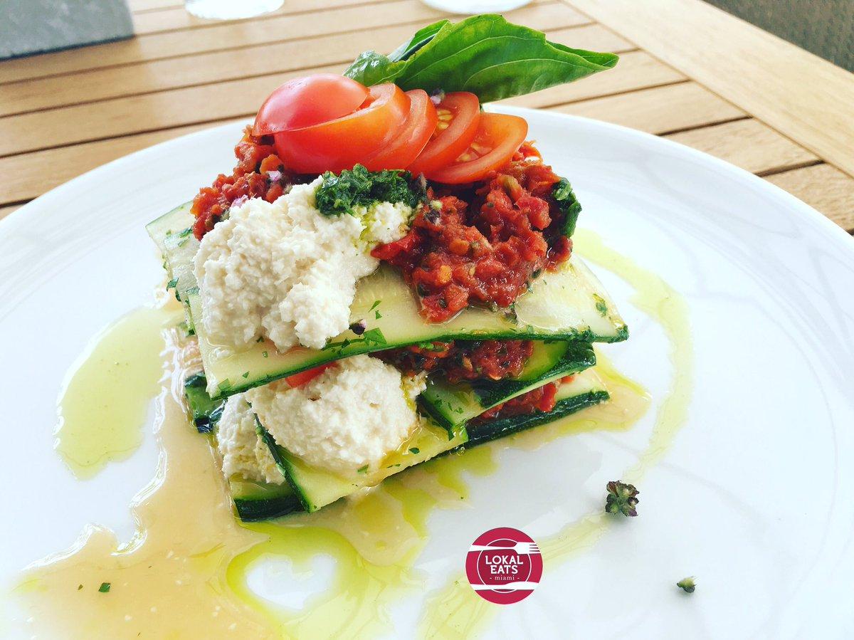 Lokal Eats On Twitter Zucchini Lasagna Vegan Restaurant In Wynwood Plant Food And Wine Healthy Local Organic