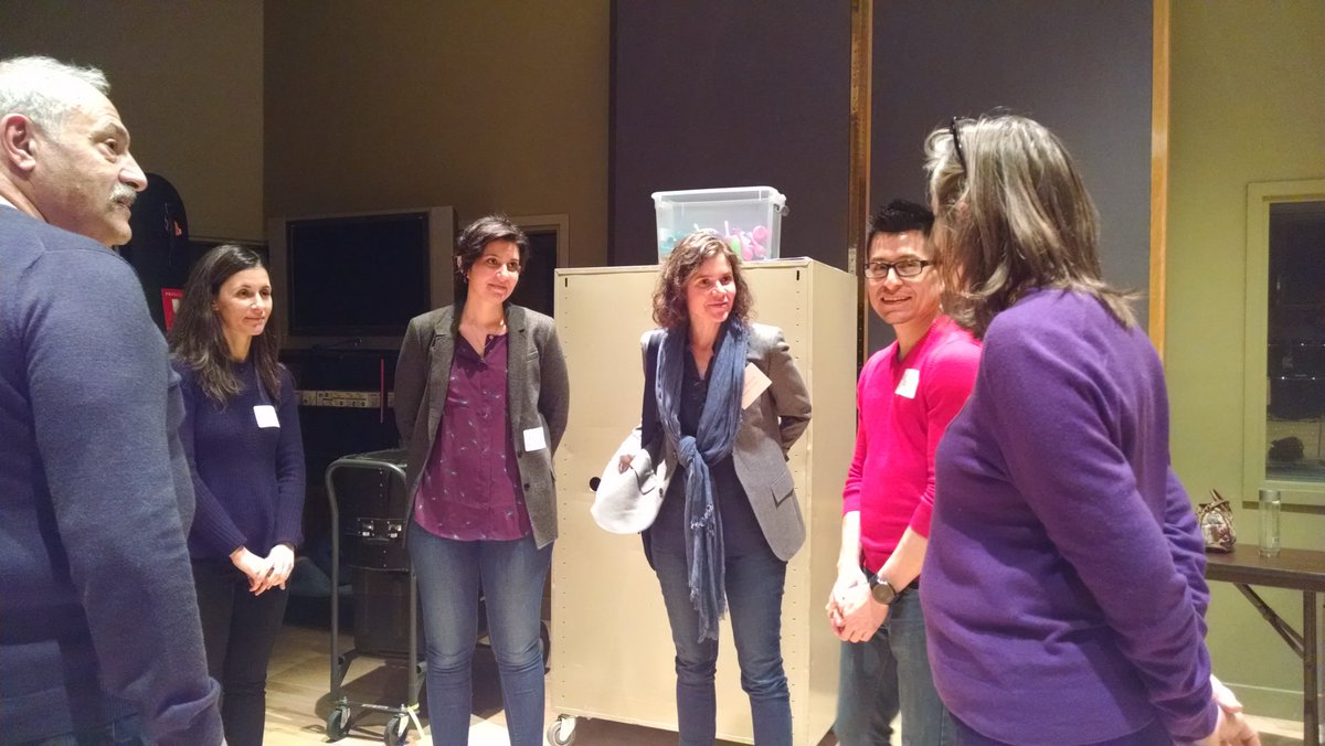 Group collaboration time with Prof. Olga Hubard! Can you improv? #AHCity https://t.co/aPir5vnguU