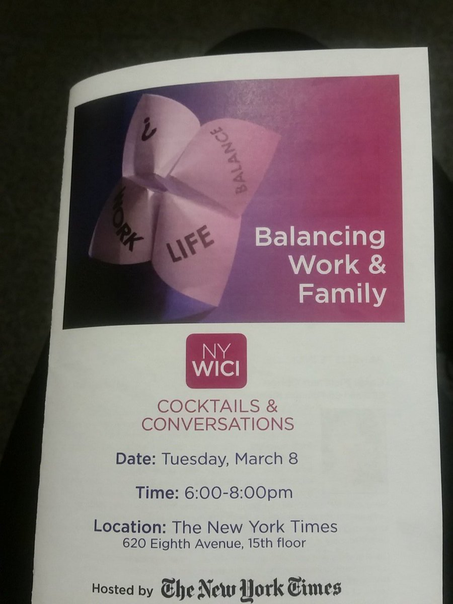 Lively conversation @NYWICI's Balancing Work and Family event #nywici https://t.co/79RPjZwkdI