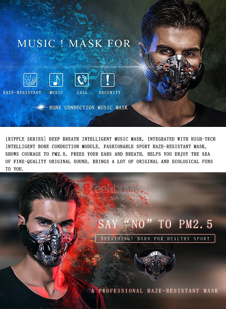 """中国国内の公害に対策した最新マスク、Bluetooth4.0対応でマスクしたまま通話もできるし音楽も聞けるんだって!「SAY""""NO""""TO PM2.5」だってカッコイー! https://t.co/LQHlUsLJ3a"""