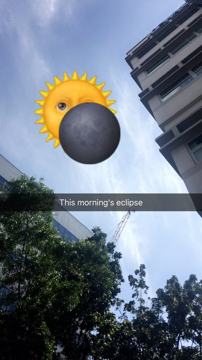 My Snapchat photo of this morning's #SolarEclipse #SolarEclipseSG shot on iphone. https://t.co/W9wv5eqWNo