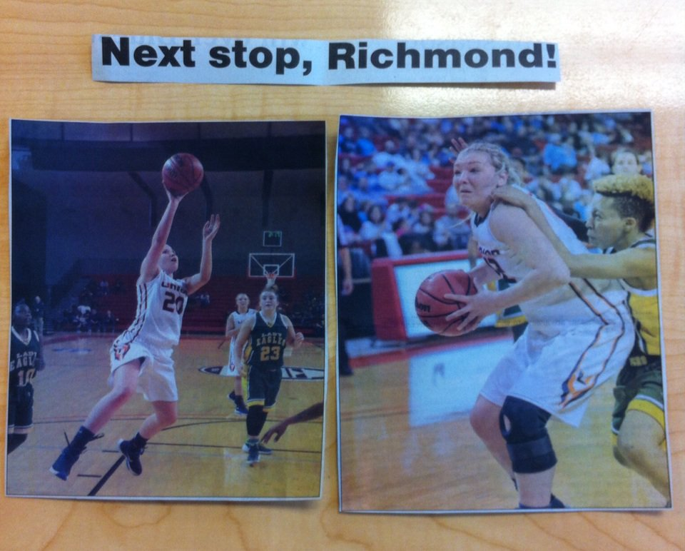 @kbish_11 @mckinney_11 The journey continues today! Good Luck Lady Bears! #theU