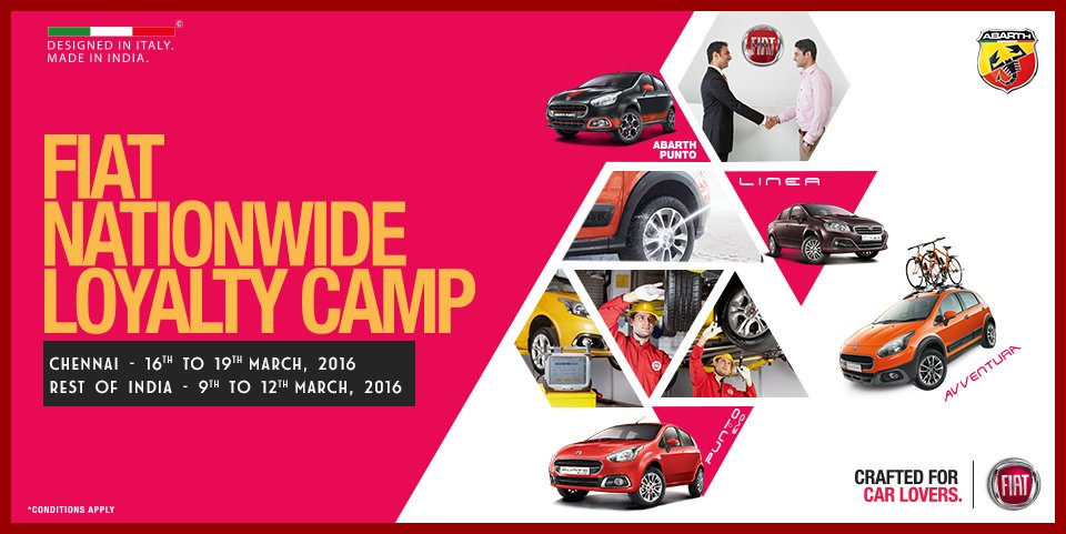 Fiat India On Twitter Introducing A Nationwide Service Camp - Nearest fiat dealer