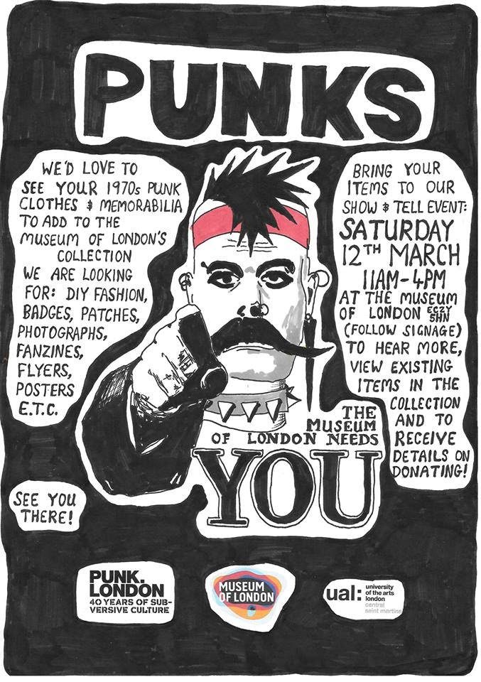 Were you a punk? The @MuseumofLondon needs to see you this Saturday. https://t.co/DY7Zd6jH7f