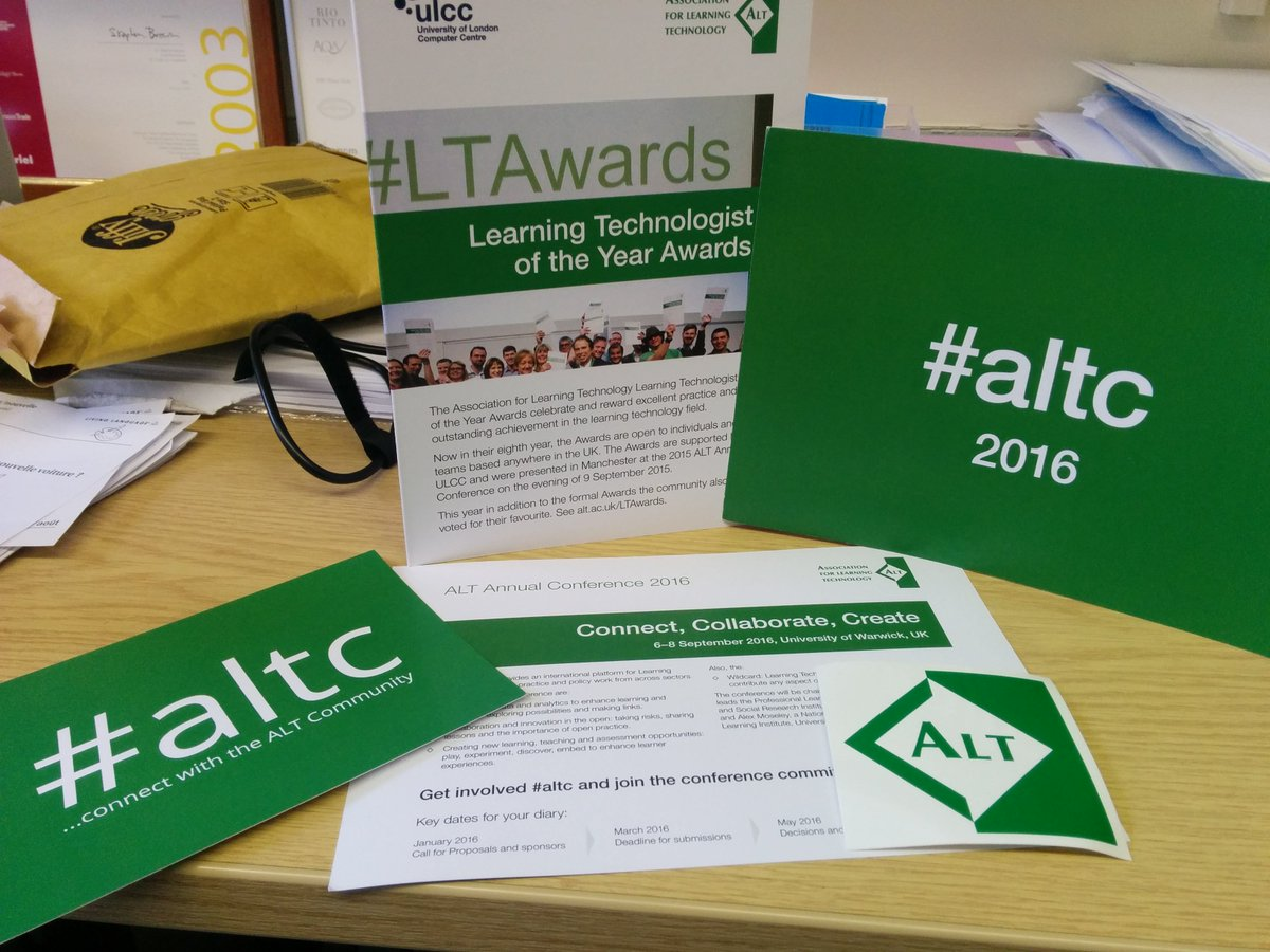 phew! all sorted, ready for #teachex16 today after positive #openbadgesHE thanks to #altc for the handouts too https://t.co/Aihn2SZ01P