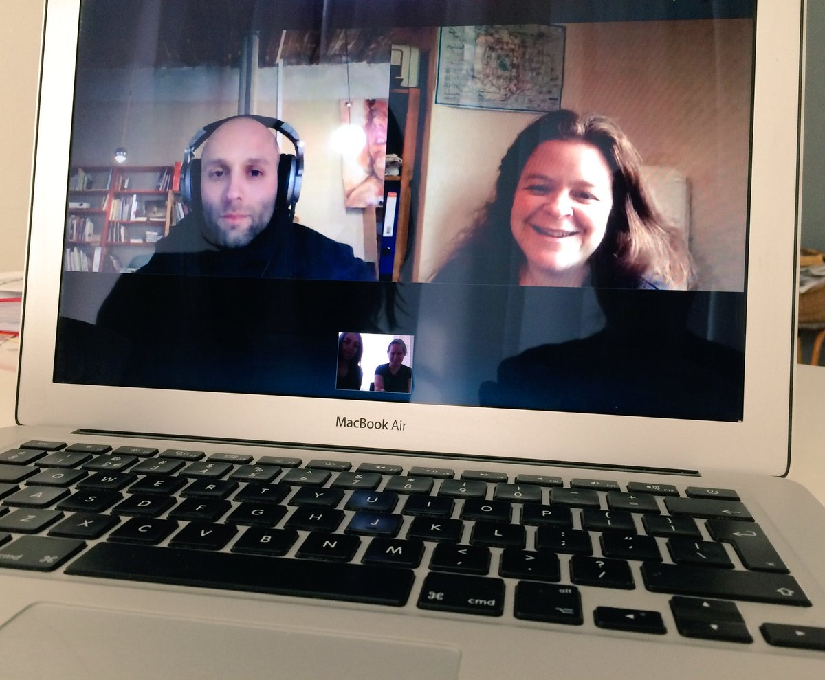 We're doing a Skype call w/ our The Art of Play masterclass hosts Dieter Vandoren & @nikkipugh. Super inspiring! https://t.co/1EH8ZbwLku