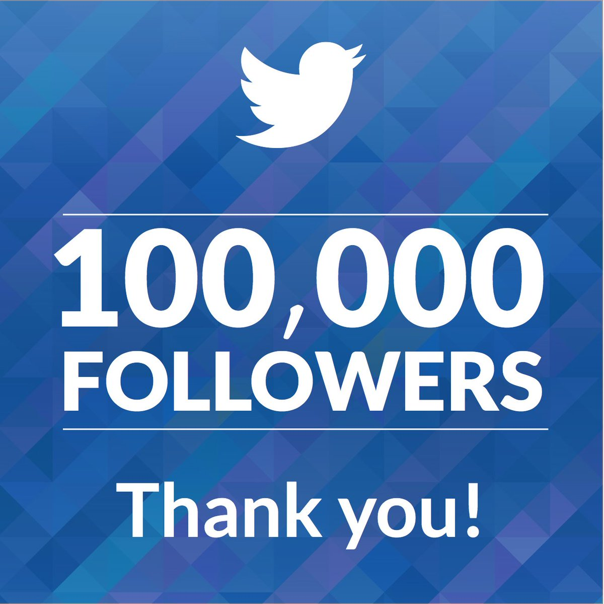 So Far Were Keeping Up Nicely With Last >> Nice On Twitter We Ve Reached 100 000 Followers Thank You For