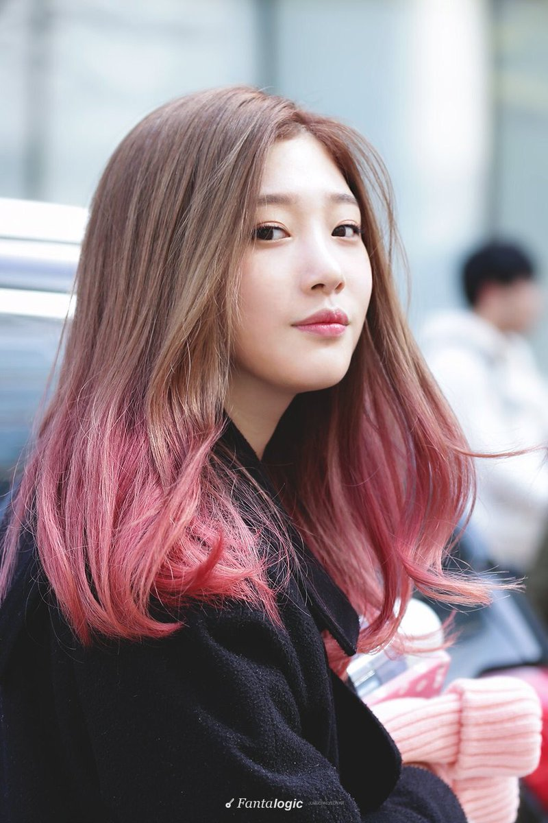 Dyed Kpop On Twitter Dia Chaeyeon Brown With Pink Https T Co