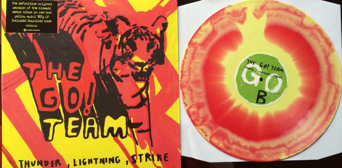 .@the_go_team's Thunder Lightning Strike reissued on vinyl for this year's Record Store Day #RSD16 #swirly https://t.co/CbpSov0BLU