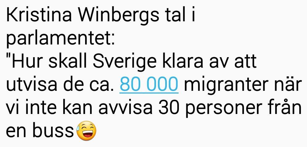 Idag hade Kristina Winberg SD förmodligen käkat taggtråd  till frukost.