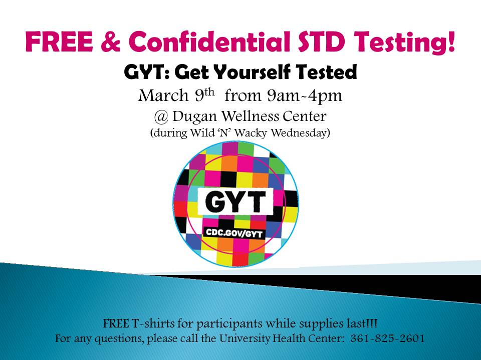 Tamucc Seas On Twitter Today Know Your Status Free Std Testing