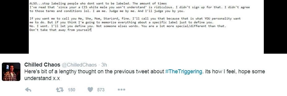 sarah nyberg on twitter cis dudes go to thetriggering to mock