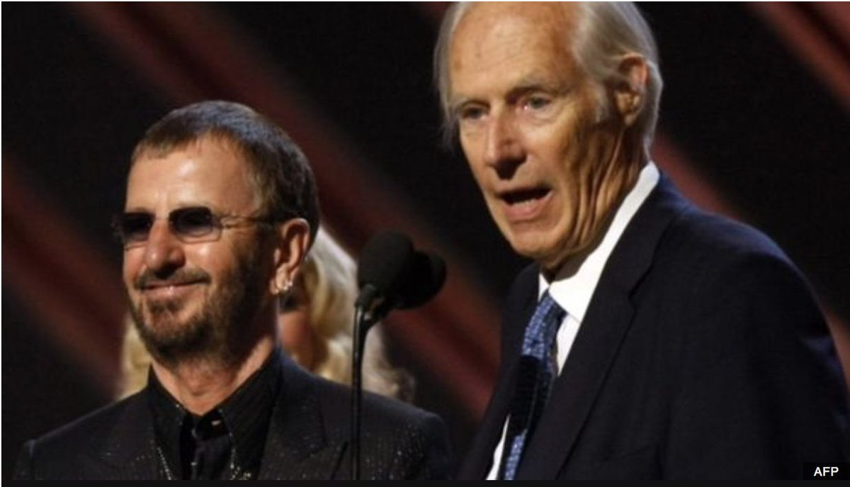 So sad 2 hear Sir George Martin has left us. He and the Beatles changed everything. We then learned from them. RIP https://t.co/LynzE4hV8R