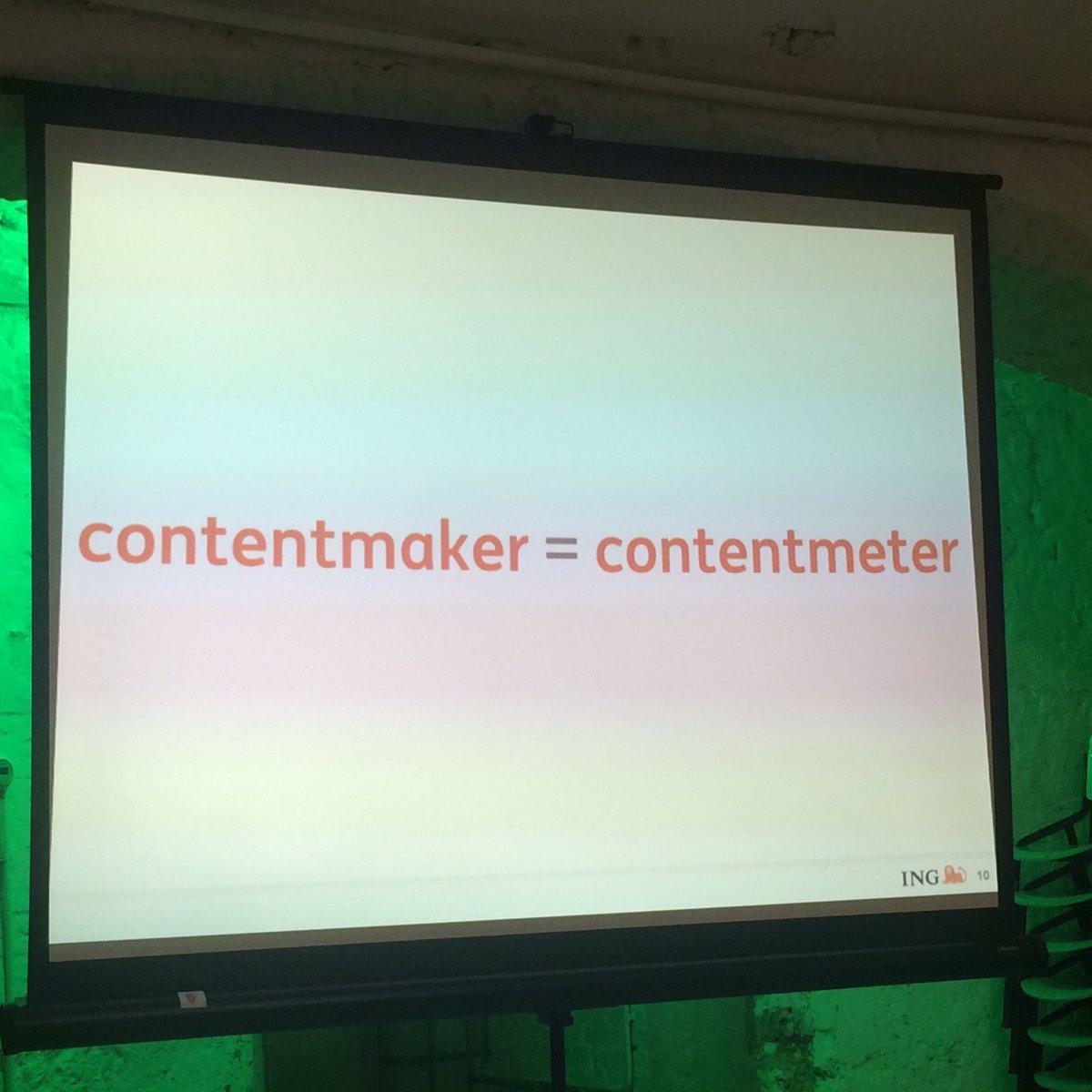 'Als je helemaal niet van cijfers houdt, heb je het lastig als contentmaker.' #contentcafe https://t.co/L9TUzcDv8U