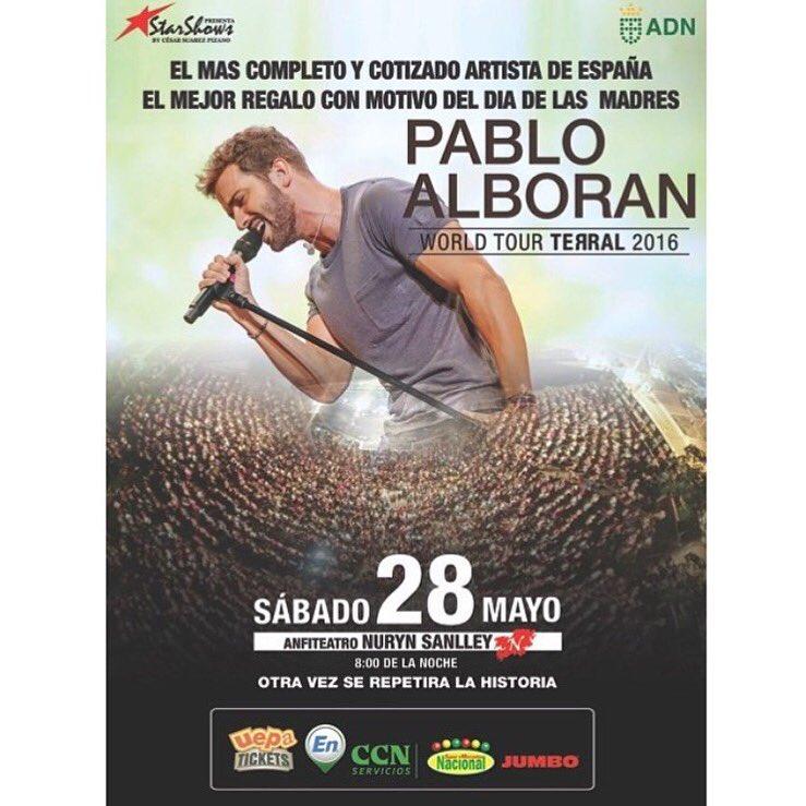 Pablo Alboran, 28/05, Anfiteatro Nuryn Sanlley.