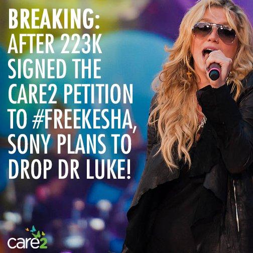 Sony finally heard our calls to #FreeKesha & will drop Dr. Luke! https://t.co/Uig933dUNf #SonyIsDroppingDrLukeParty https://t.co/DdniALA9aj