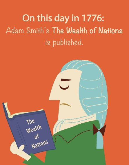 """March 9, 1776: Adam Smith's magnum opus, """"The Wealth of Nations"""" is published #ThisDayInHistory #OnThisDay https://t.co/wIY8sw1KxD"""