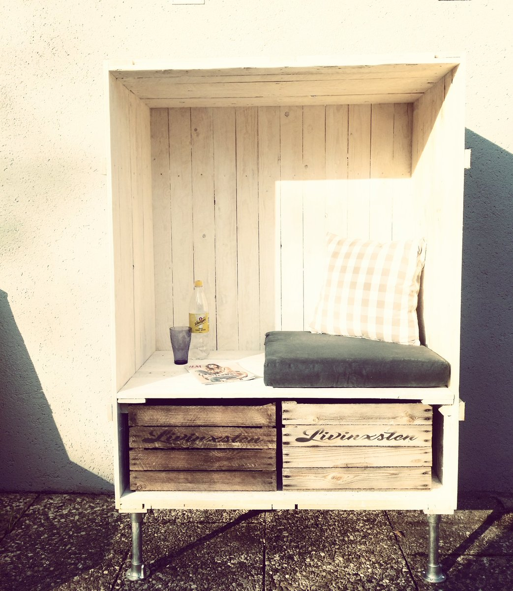 livinxsten on twitter shabby industrial strandkorb garten terasse loft strand bank. Black Bedroom Furniture Sets. Home Design Ideas